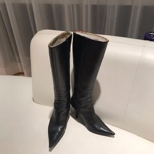 Charles David Leather Boots - Black Size 6